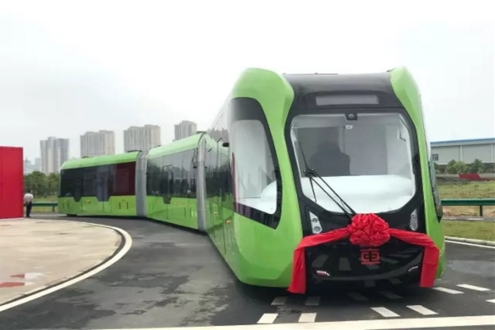 Driverless Train Concept In China Runs On Paint Lines Instead Of Rails