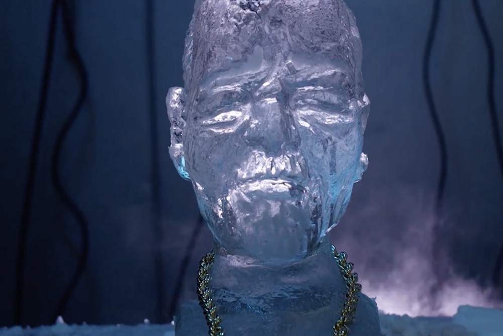 Facebook Fans Melt A Life-Size Ice Sculpture Of Ice-T