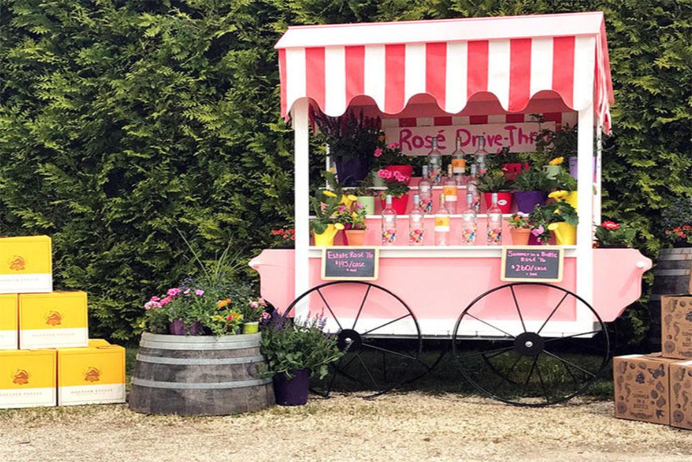 Say Hello to A Hamptons Drive-Through Rosé Service