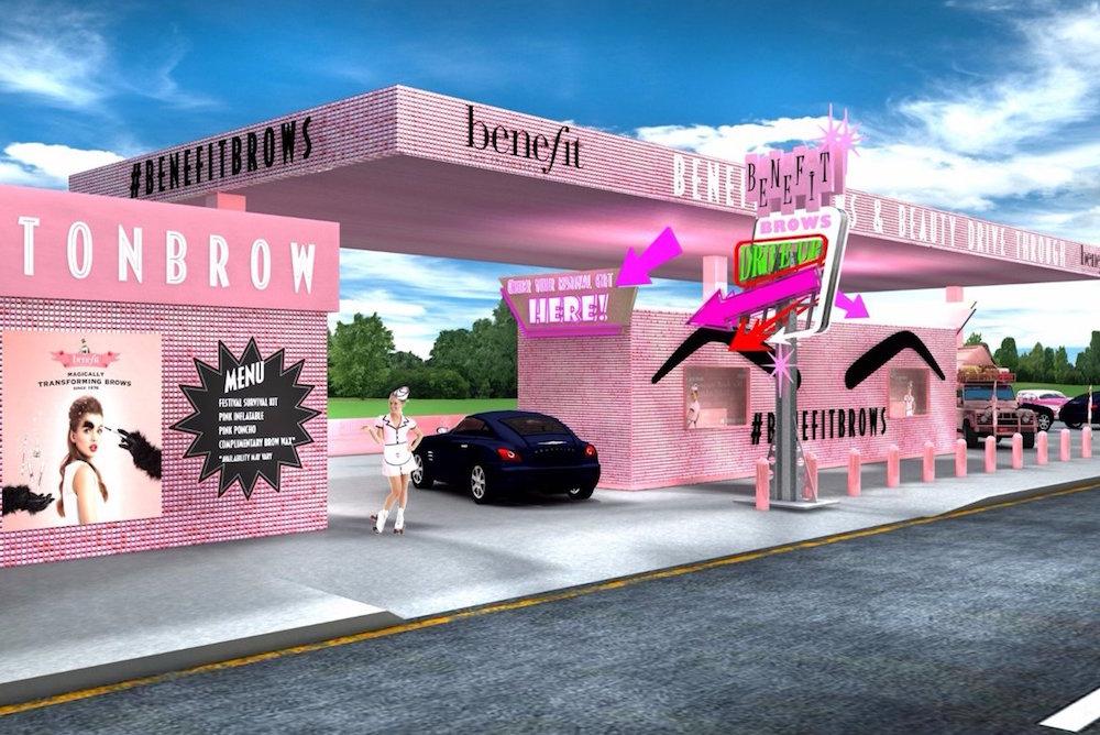 Benefit Cosmetics Will Build A Free Drive-Thru Beauty Bar For Glastonbury Festival