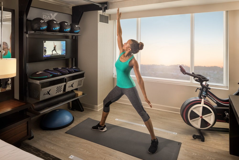 Hilton Brings The Gym Into The Hotel Room