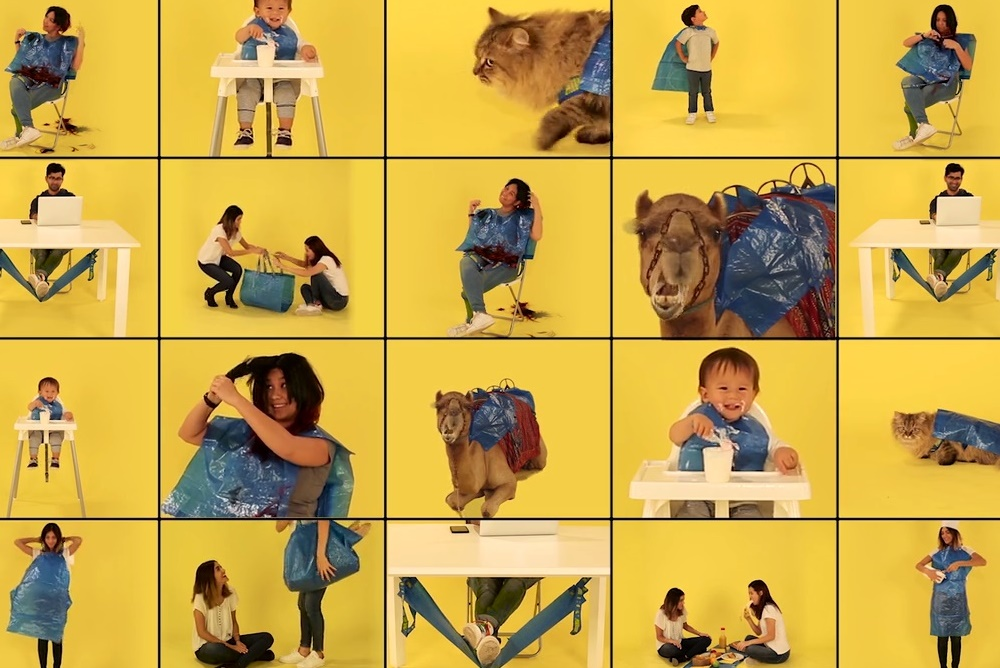 IKEA's Blue Bag Instructs Buyers To Transform It Into Other Useful Items