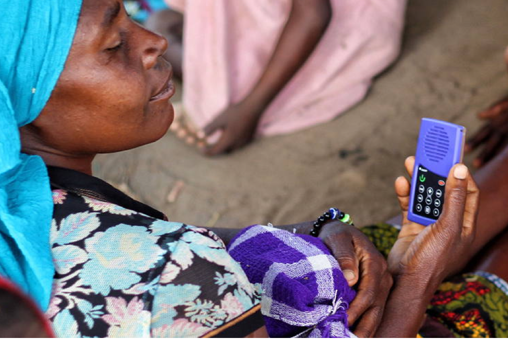 Solar-Powered MP3 Player Educates Women At Risk
