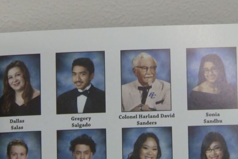 How Did Colonel Sanders End Up In This Public High School Yearbook?
