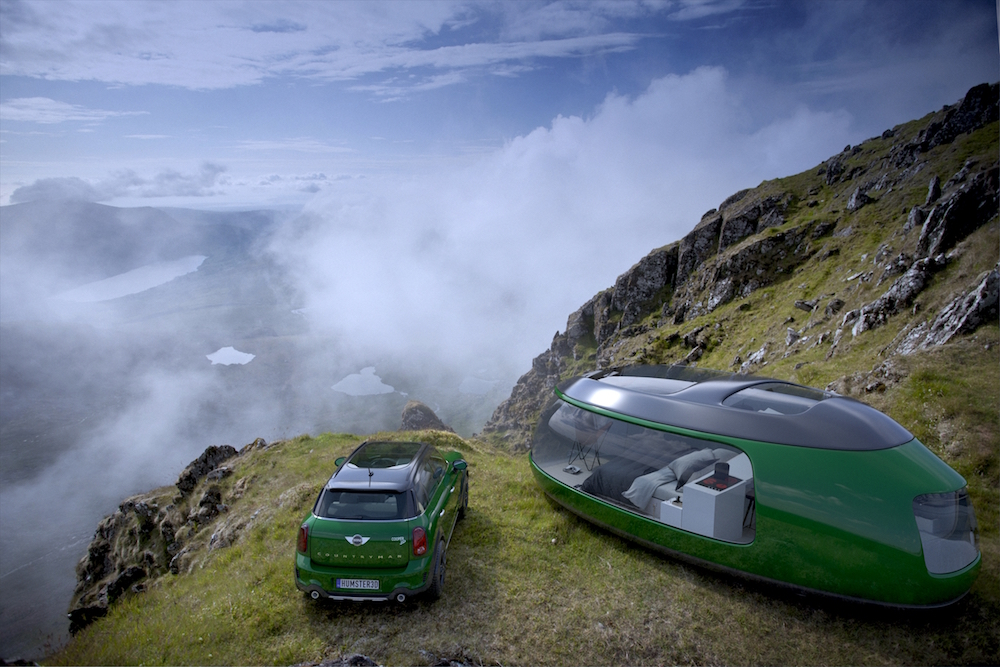 Luxurious Camper Pod Inspired By The New MINI Car