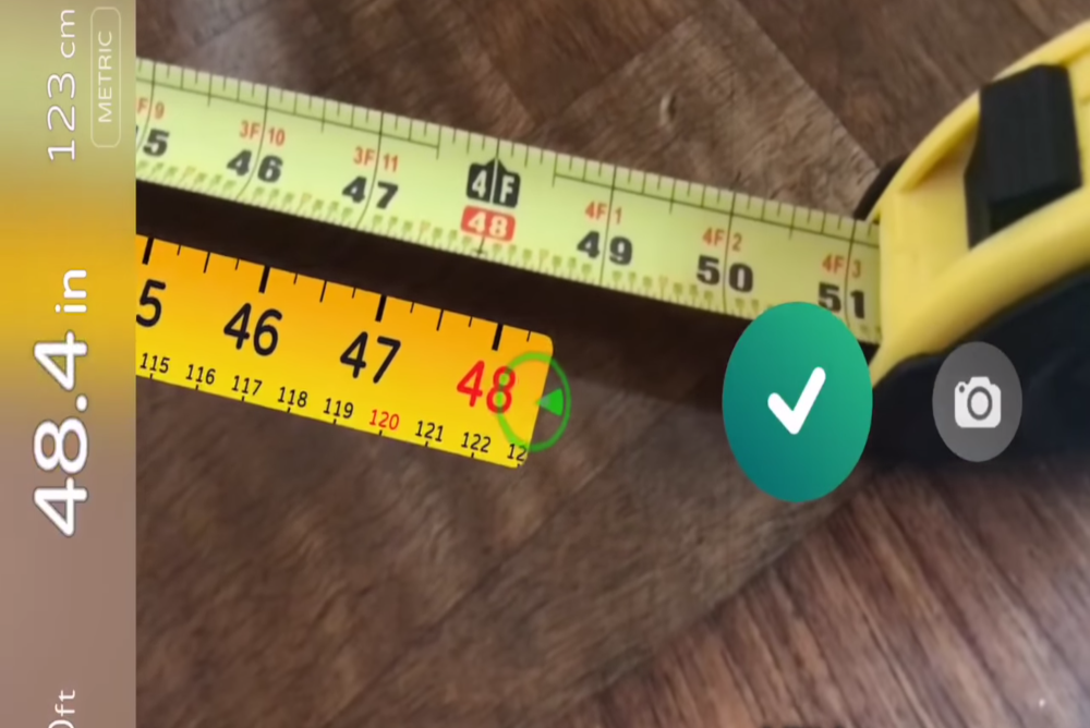 Augmented Reality Measuring Tape Unfurls From Your Phone