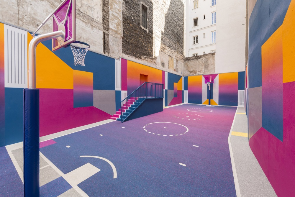 Colorful Paris Basketball Court Updated With A New Look