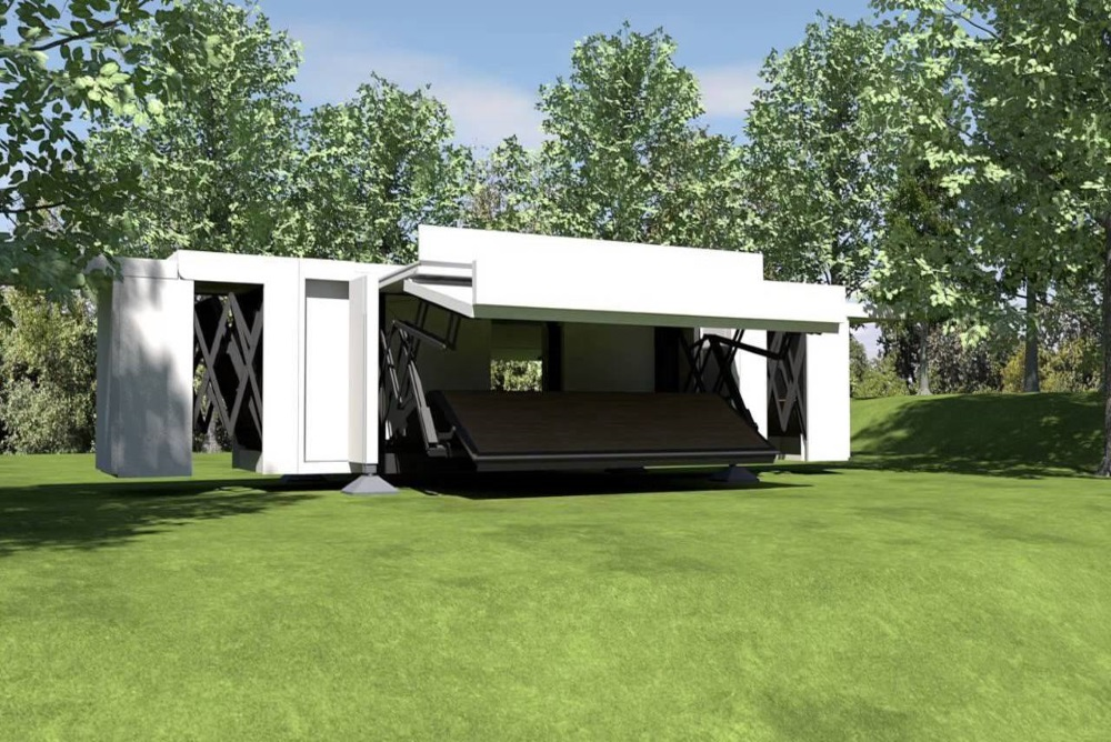Self-Deployable Structure Builds Itself
