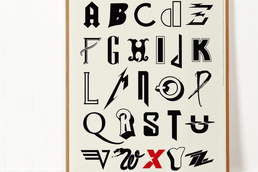 Print Series Covers The A-Z Of Rock Band Typefaces