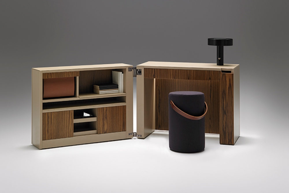 Home Office Folds Away Into A Tiny Cube