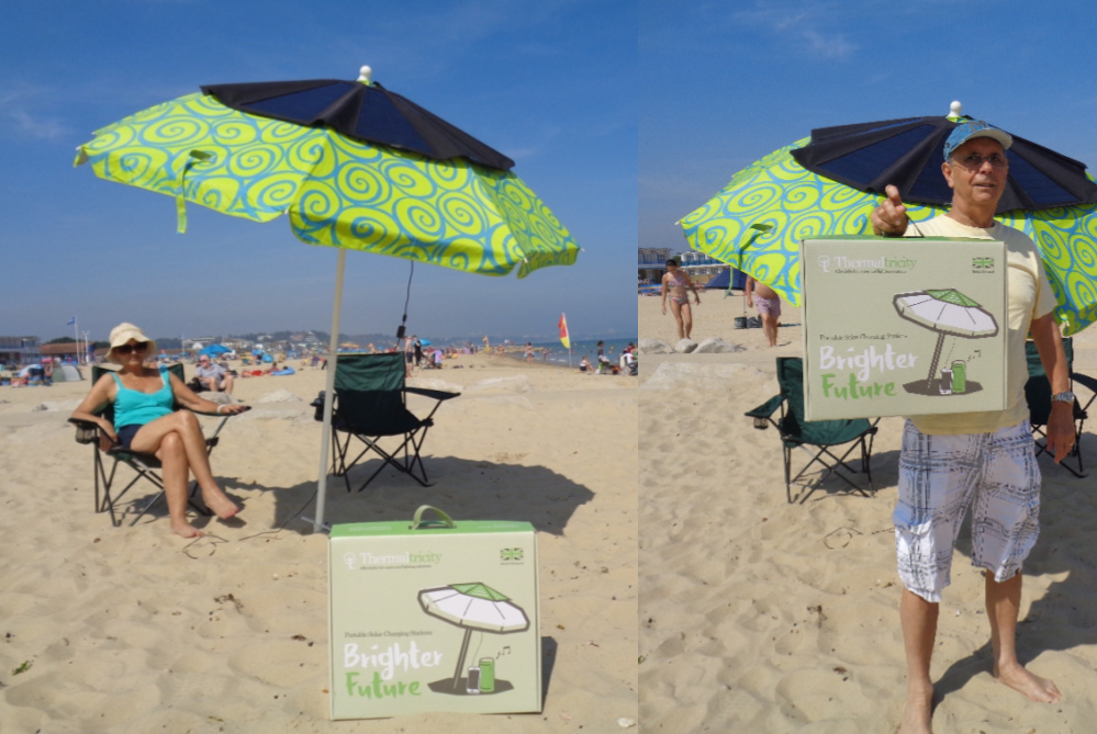 These Panels Turn Umbrellas Into Personal Charging Stations