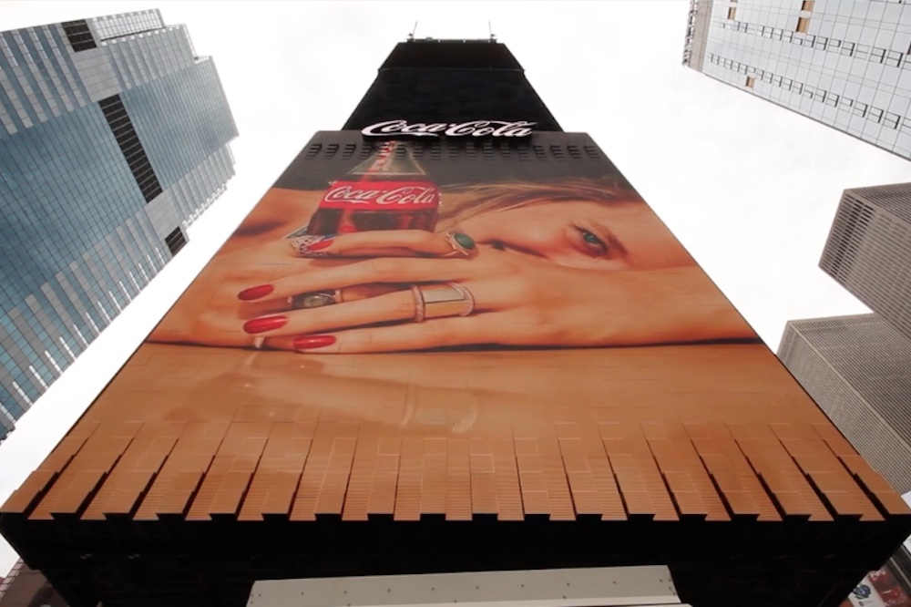 3D Coca-Cola Ad Gives Billboards A New Look In NYC's Times Square