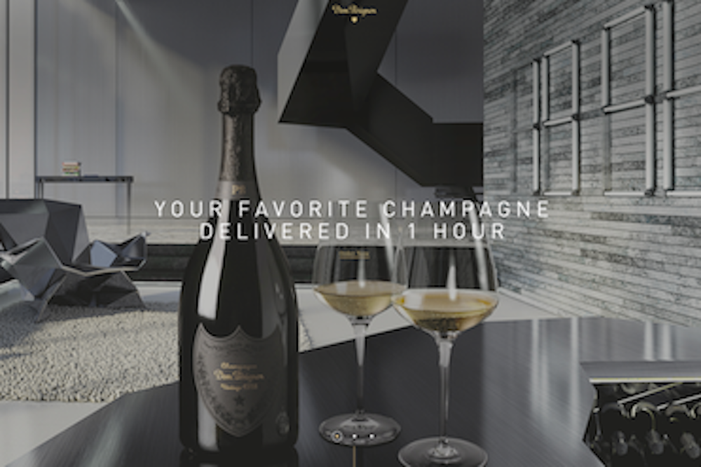 Service Delivers Chilled Champagne To Miami Residents In Under 60 Minutes