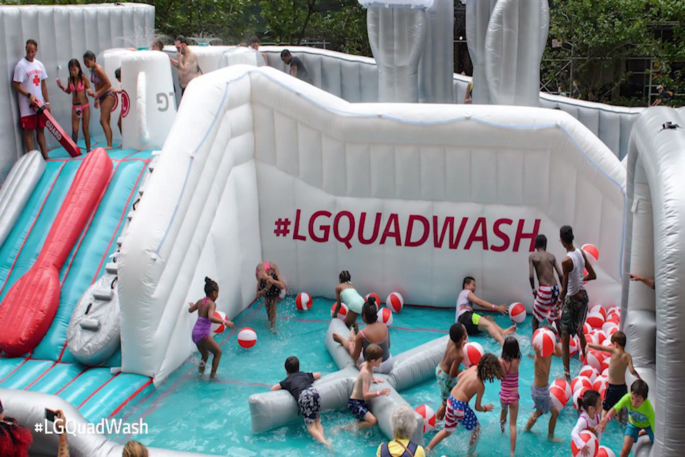 LG Put Up A Dishwasher-Themed Water Park In New York