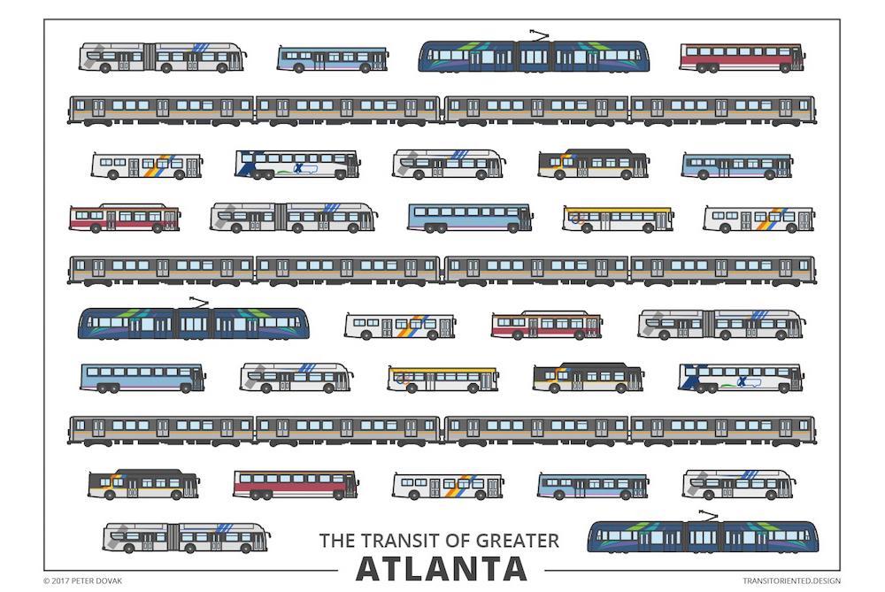 Designer Beautifully Illustrates Public Transit Options In 24 Cities