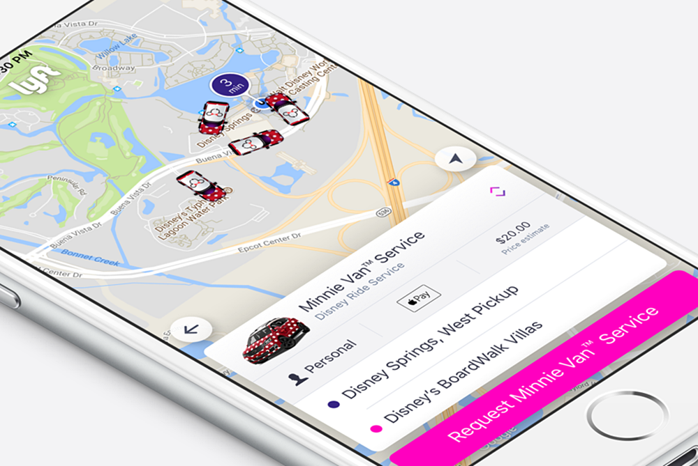 Disney World Guests Can Now Order Special Lyft 'Minnie Vans'