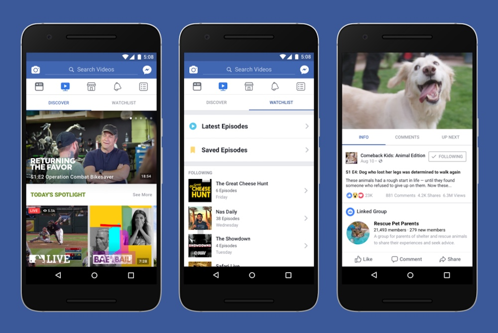 Facebook Wants People To Watch Live TV And Original Shows While They Browse