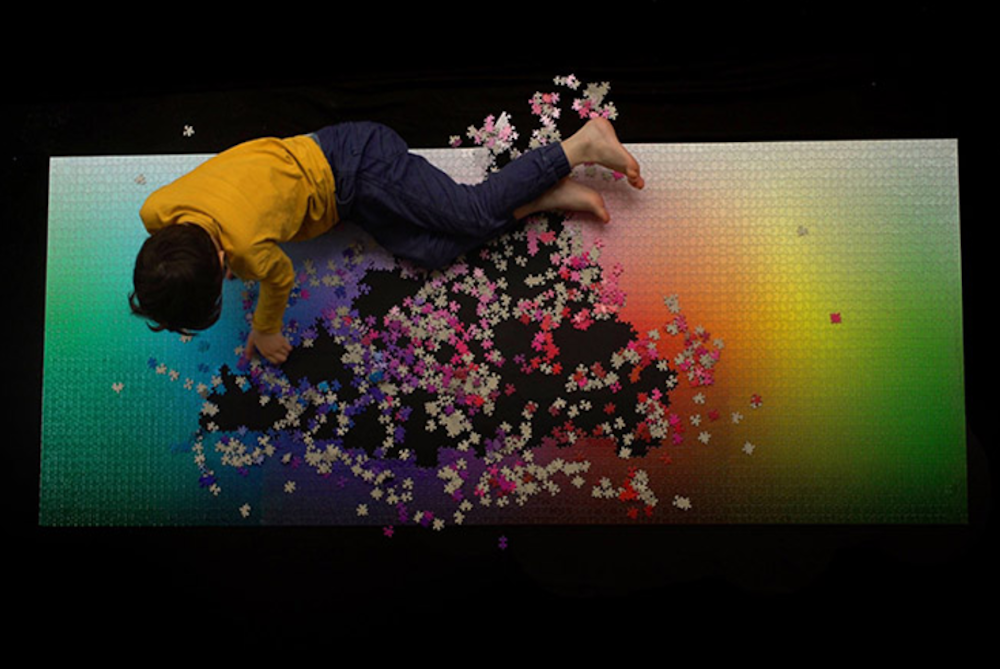 Giant Color Gradient Puzzle Has Over 1,000 Individual Tiles