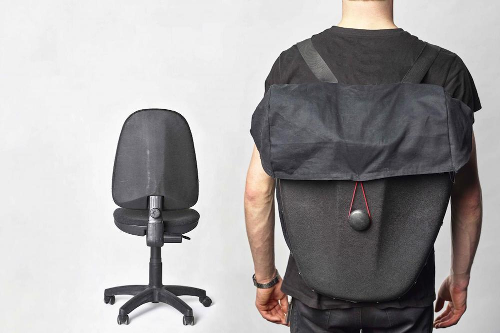 Transform Your Old Office Chair Into A Backpack