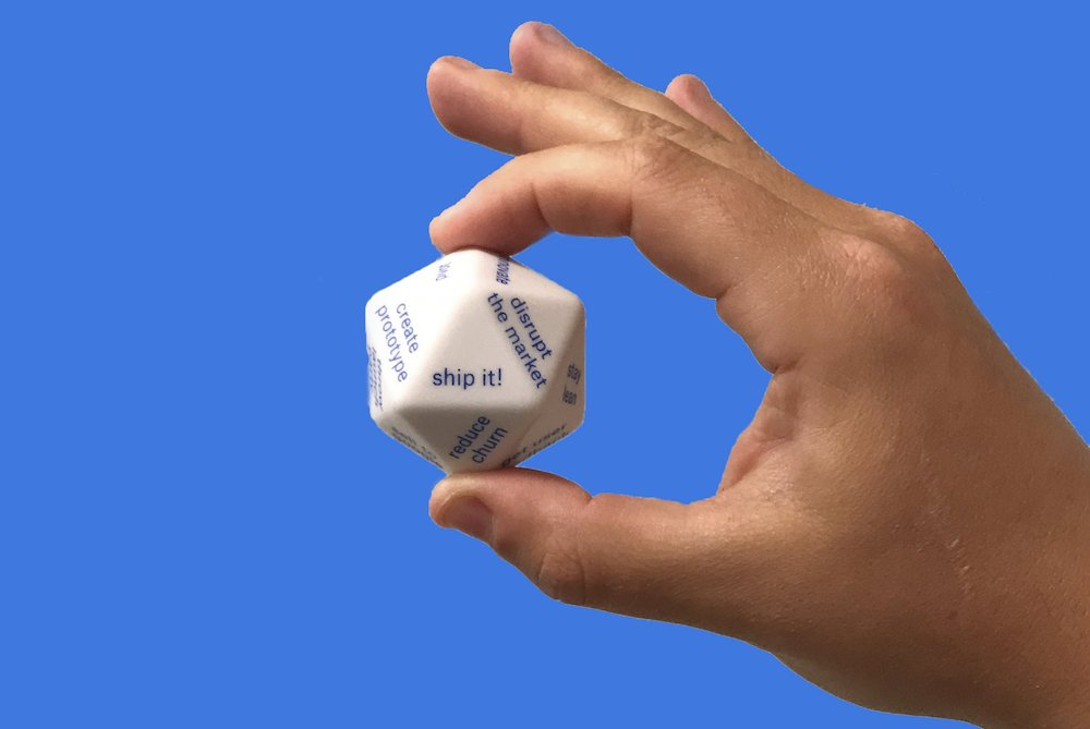 Creative 20-Sided Dice Act As A Pocket Startup Advisor