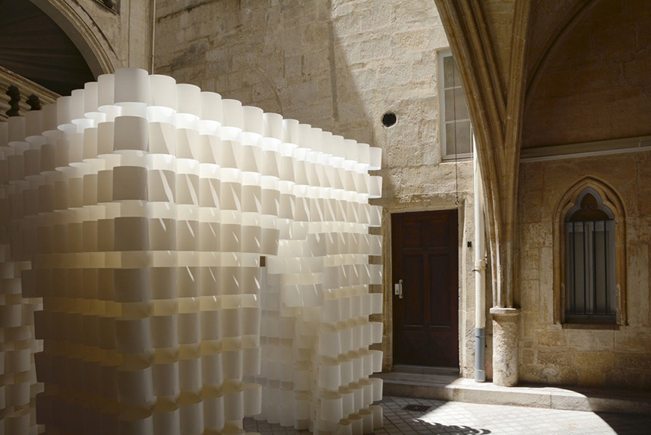 Architecture Pavilion Made Of 2,000 Paper Rings