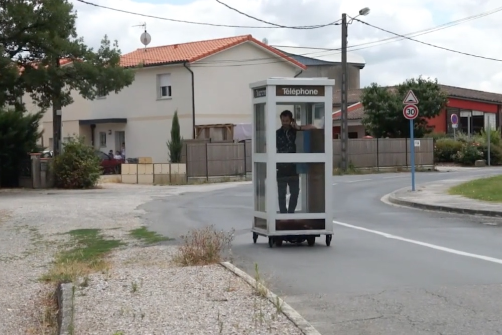 Artist Shuns Pocketability In Favor Of A Mobile Telephone Booth
