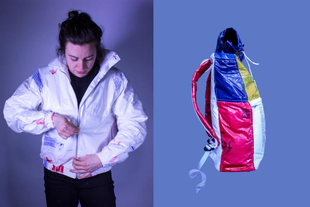 Eco-Designer Turns Recycled Plastic Bags Into Jackets