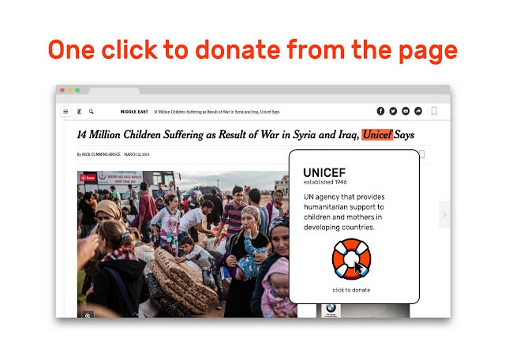Donate To Charities With Browser Extension