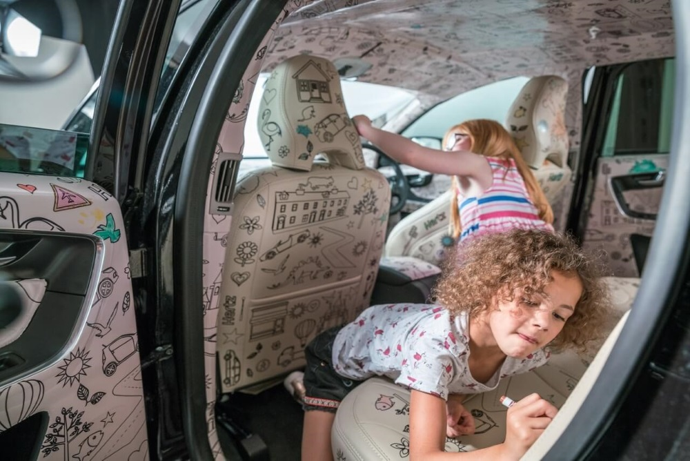 Rental Car Lets Kids Draw On The Upholstery