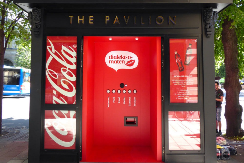 Vending Machine Accepts Dialects As A Form Of Payment