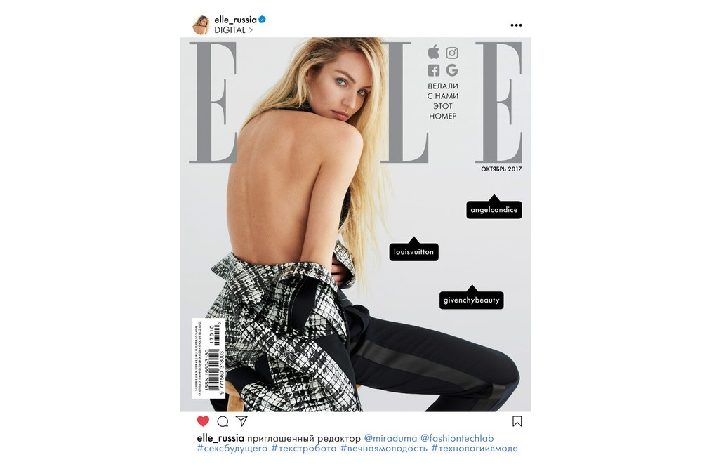 Fashion Magazine Publishes A Cover Like An Instagram Post