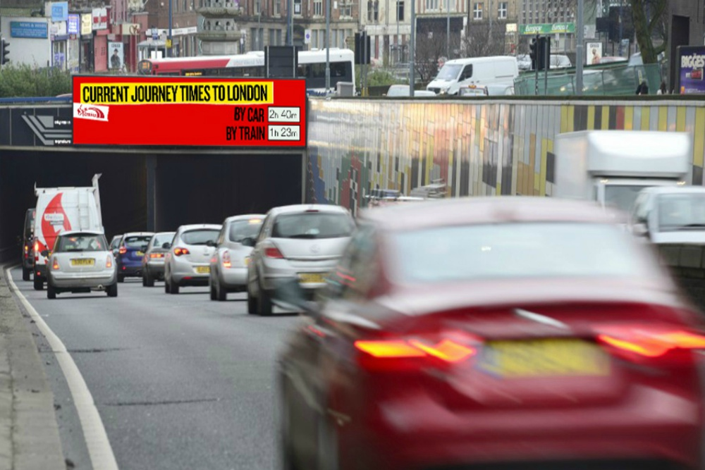 Virgin Trains Billboards Compare Railroad Journeys With The Road