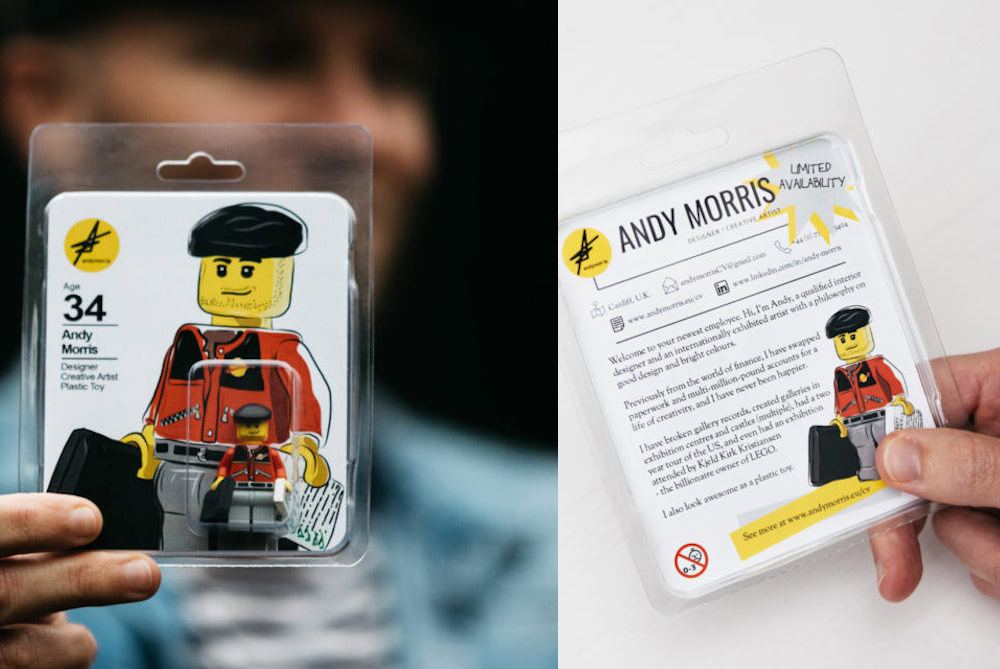 A Designer Turned His CV Into A LEGO Version Of Himself