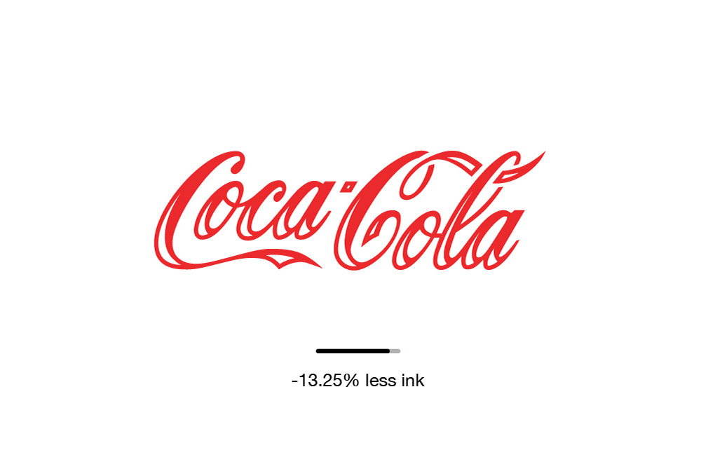 Designer Recreates Famous Logos To Use Less Ink