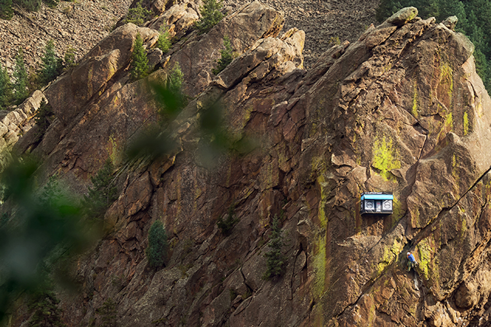 World's Most Remote Pop-Up Appears On A Cliffside In Colorado
