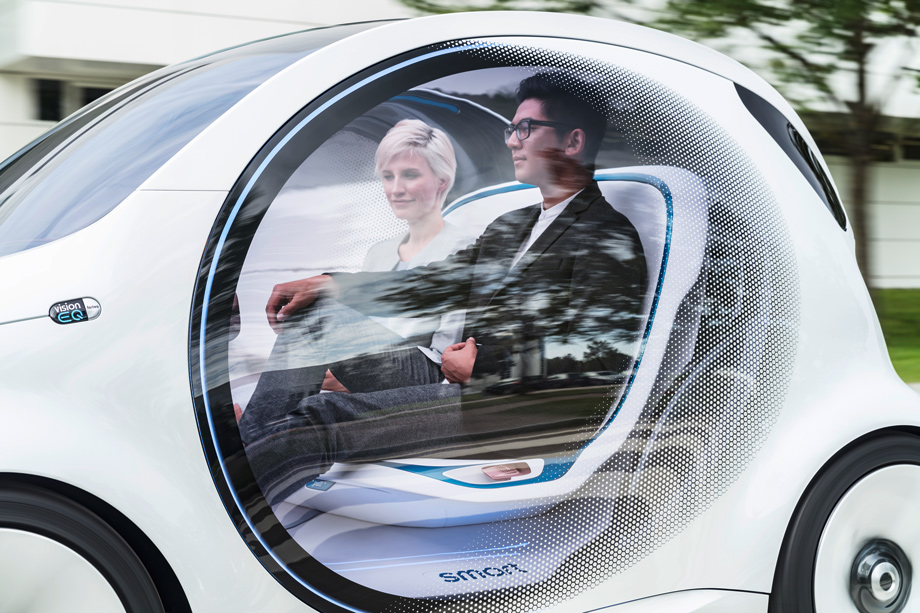 Smart's Autonomous Concept Car Can Be Used Without A Drivers License