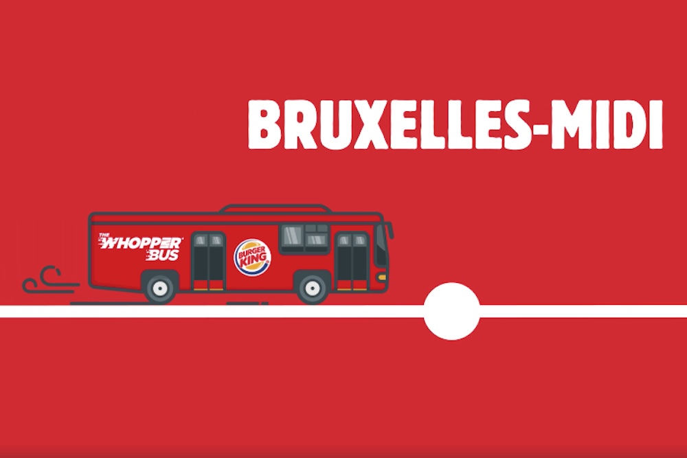 Burger King Launched A Bus To Take Brussels Residents To Its Restaurant