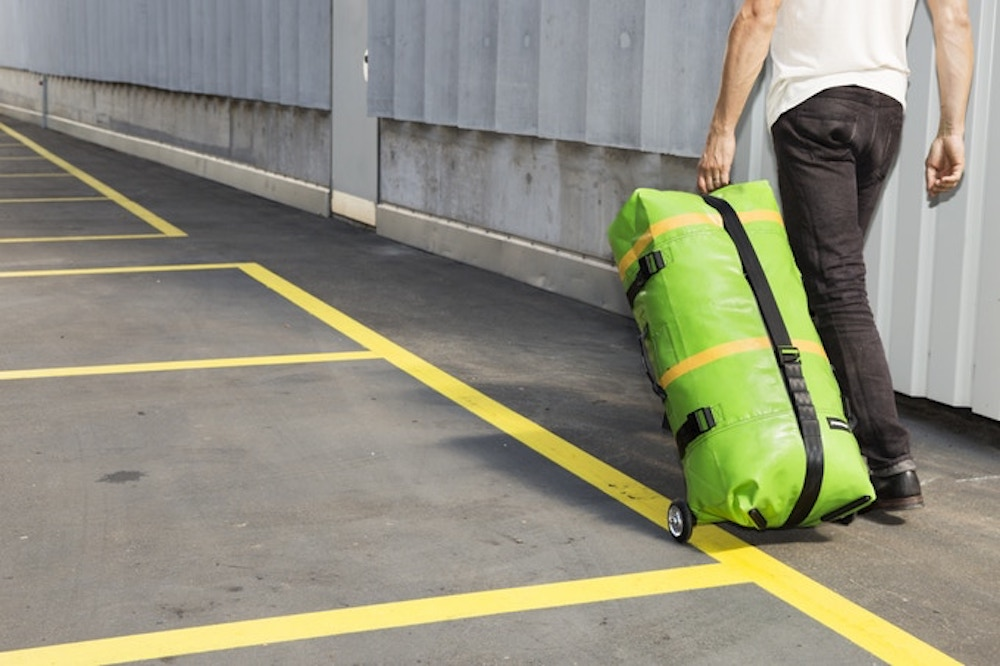 Inflate This Upcycled Suitcase With A Bicycle Pump