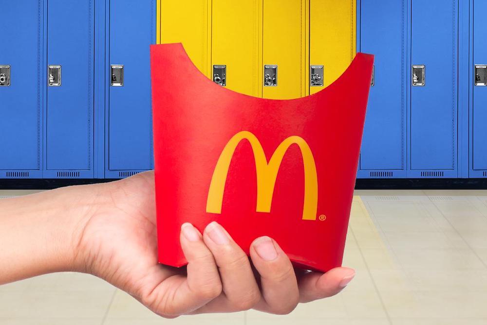 McDonald's Singapore Introduces Phone Lockers