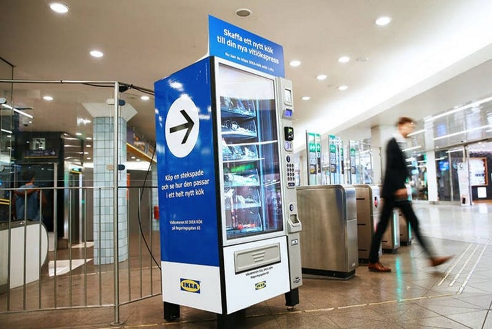 IKEA Vending Machine Dispenses Kitchen Tools