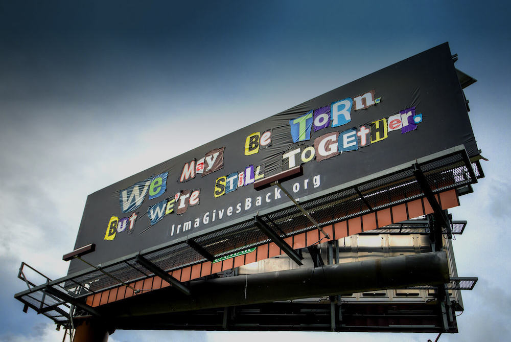 Billboards Emerge from Hurricane Irma Rubble To Spread Hope