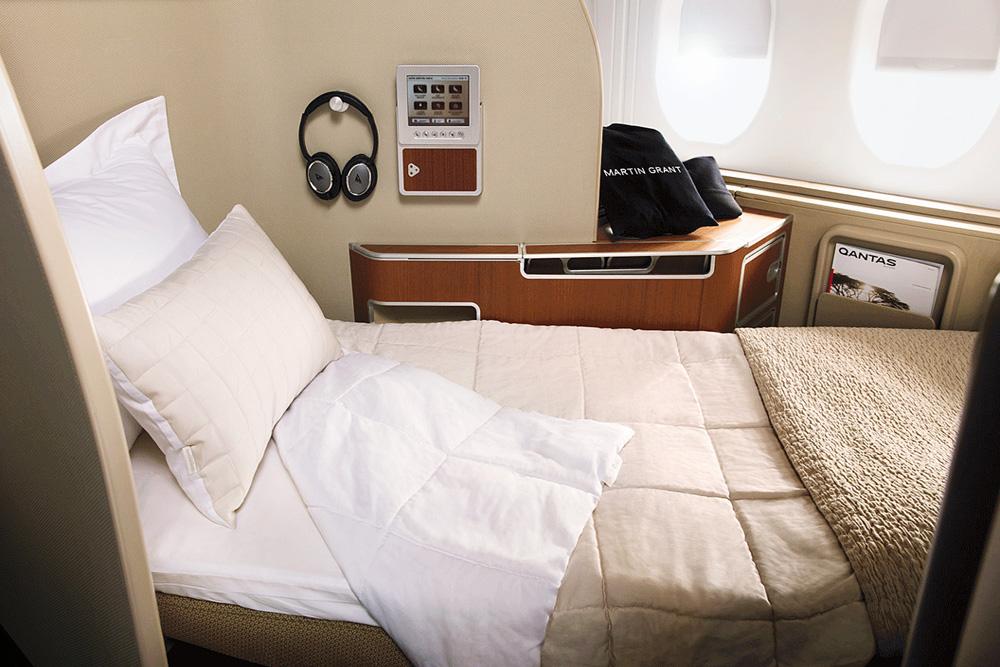 Qantas Now Offers Pillow Menu To First-Class Passengers