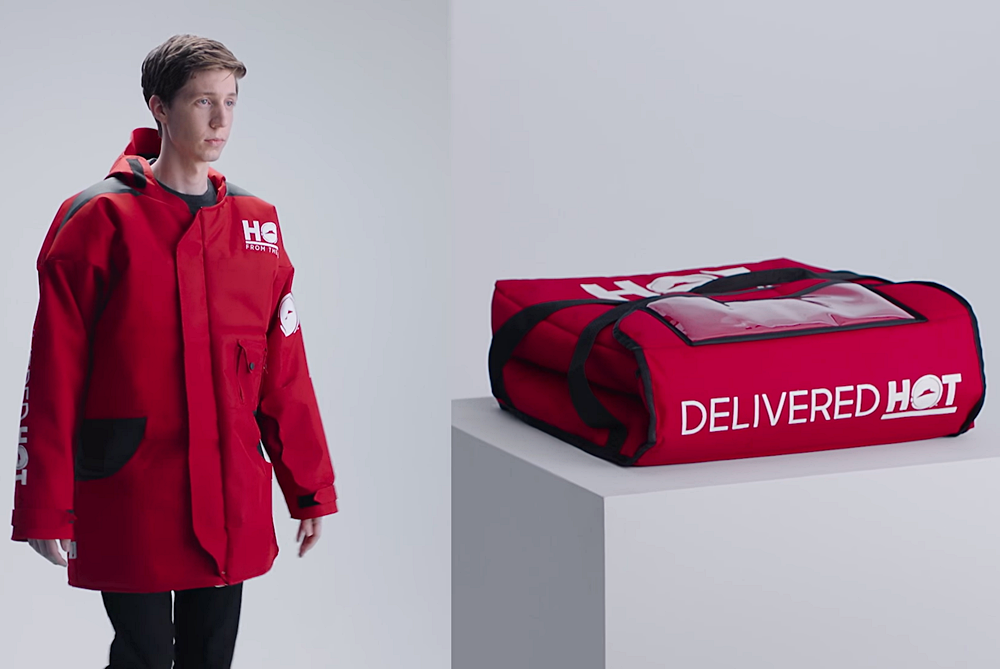 Pizza Hut Introduces A Parka Made Of Insulated Delivery Material