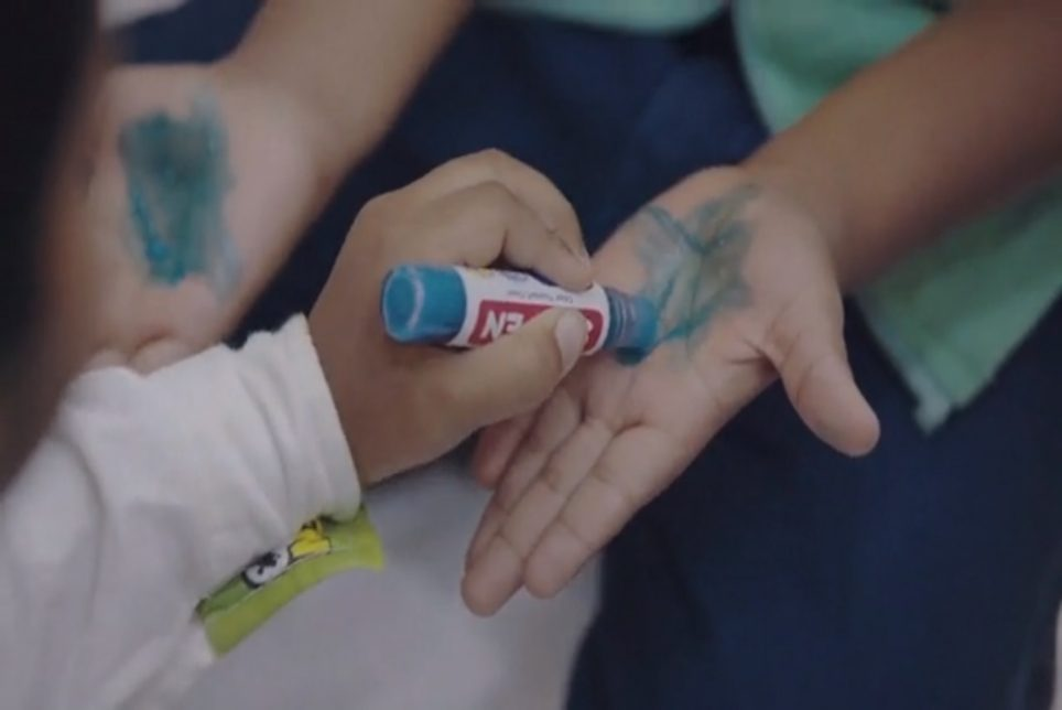 Soap Crayon Encourages Kids To Wash Their Hands