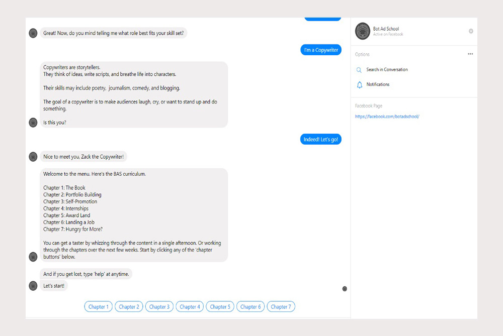 Take Advertising School Lessons From A Chatbot