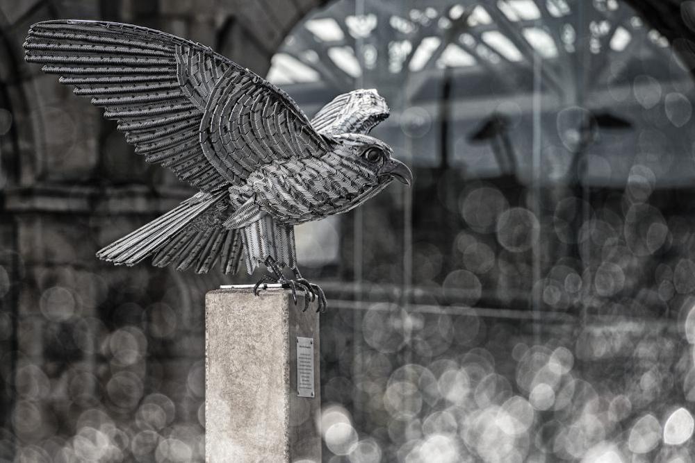 Falcon Sculpture Made From Allen Keys Graces IKEA Store Opening