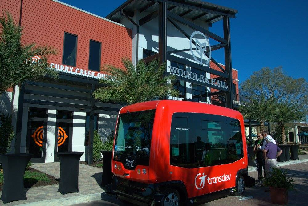 Self-Driving Shuttle Drives People Around In This Solar-Powered Town