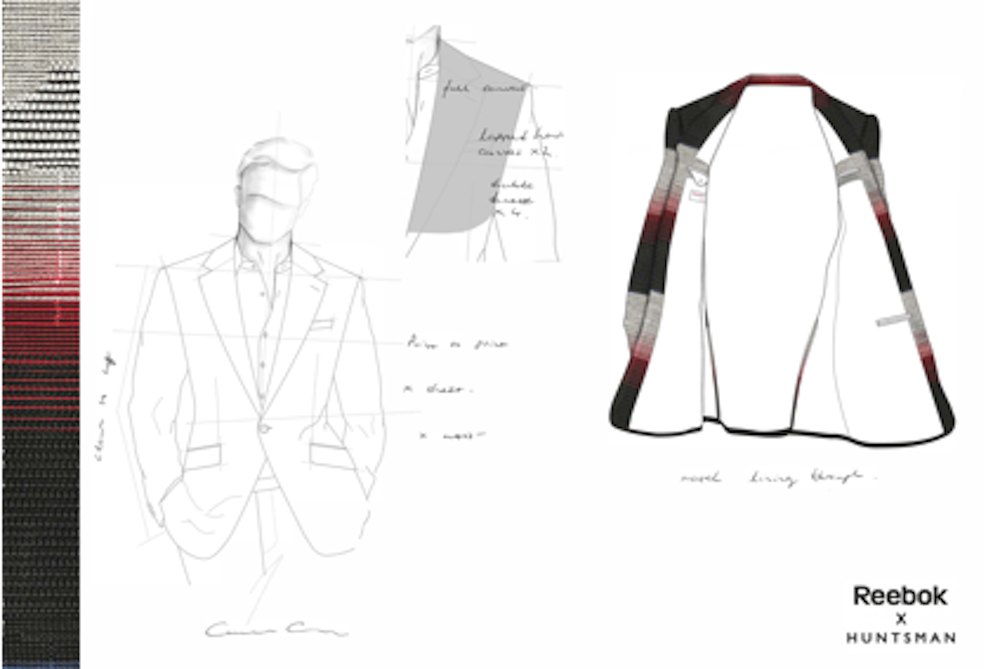 Reebok Explores Formal Sportswear With A Suit Made Out Of Shoe Material
