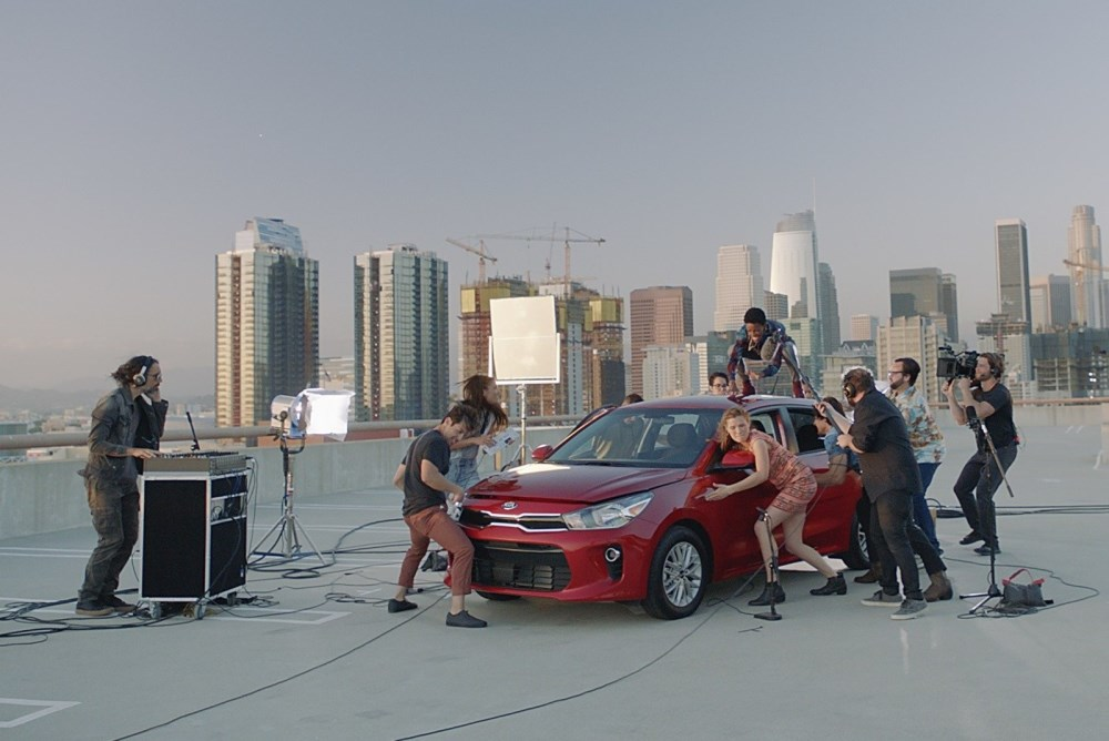 Performers Turn A Kia Car Into A Musical Instrument