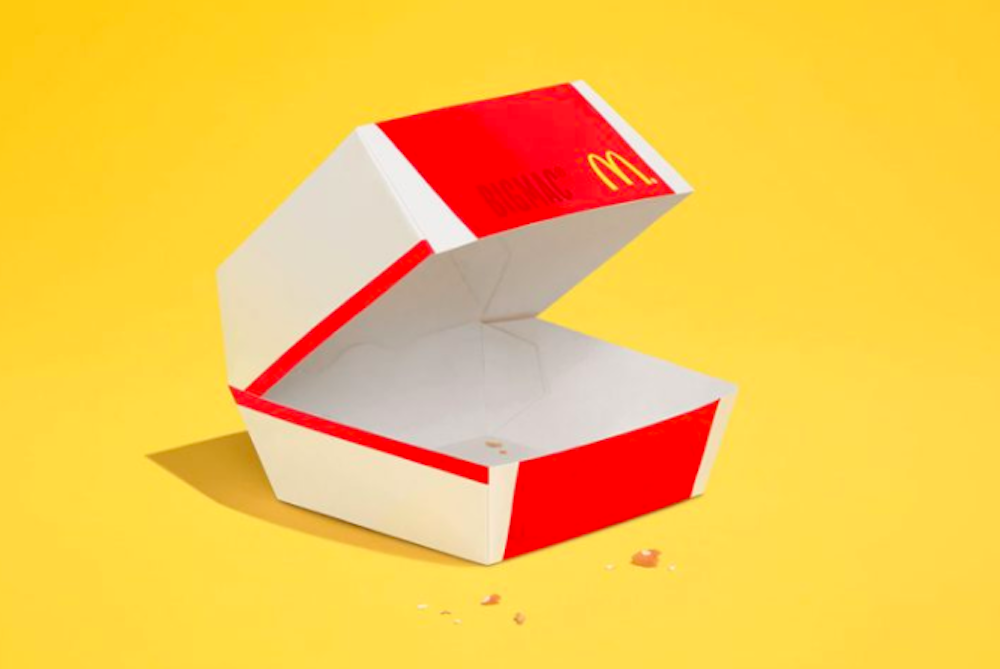Minimalist McDonald's Ads Are Almost Devoid Of Food